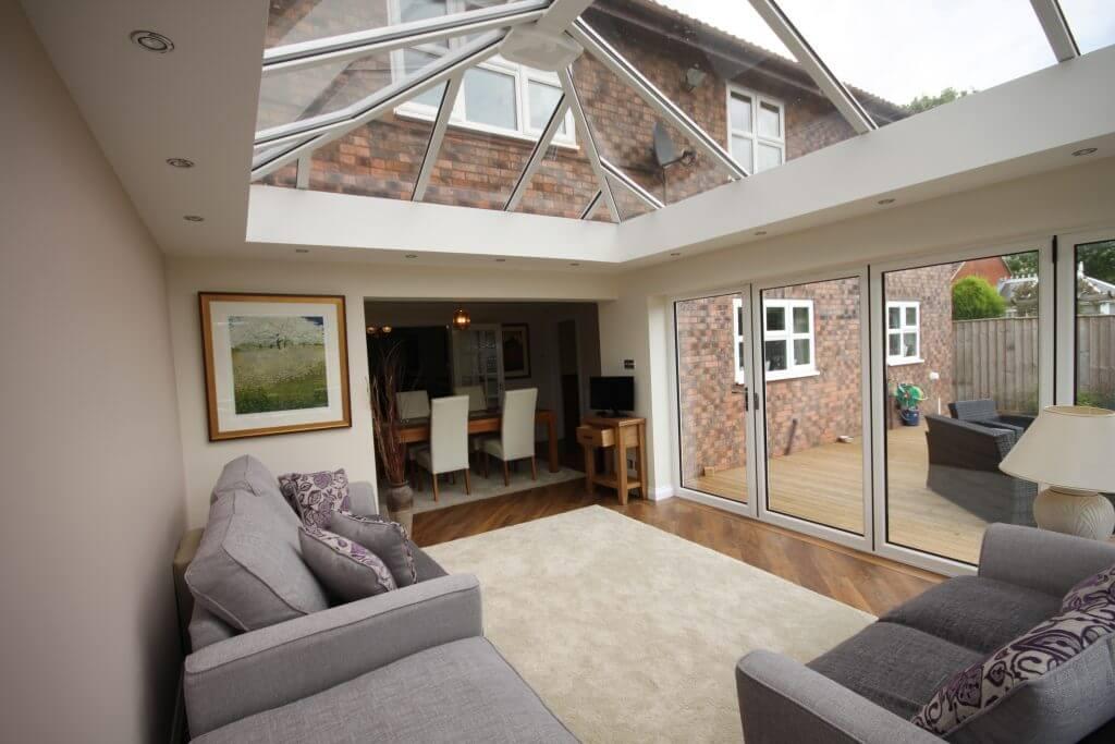 Stunning modern glass roof conservatory by Chatsworth Windows